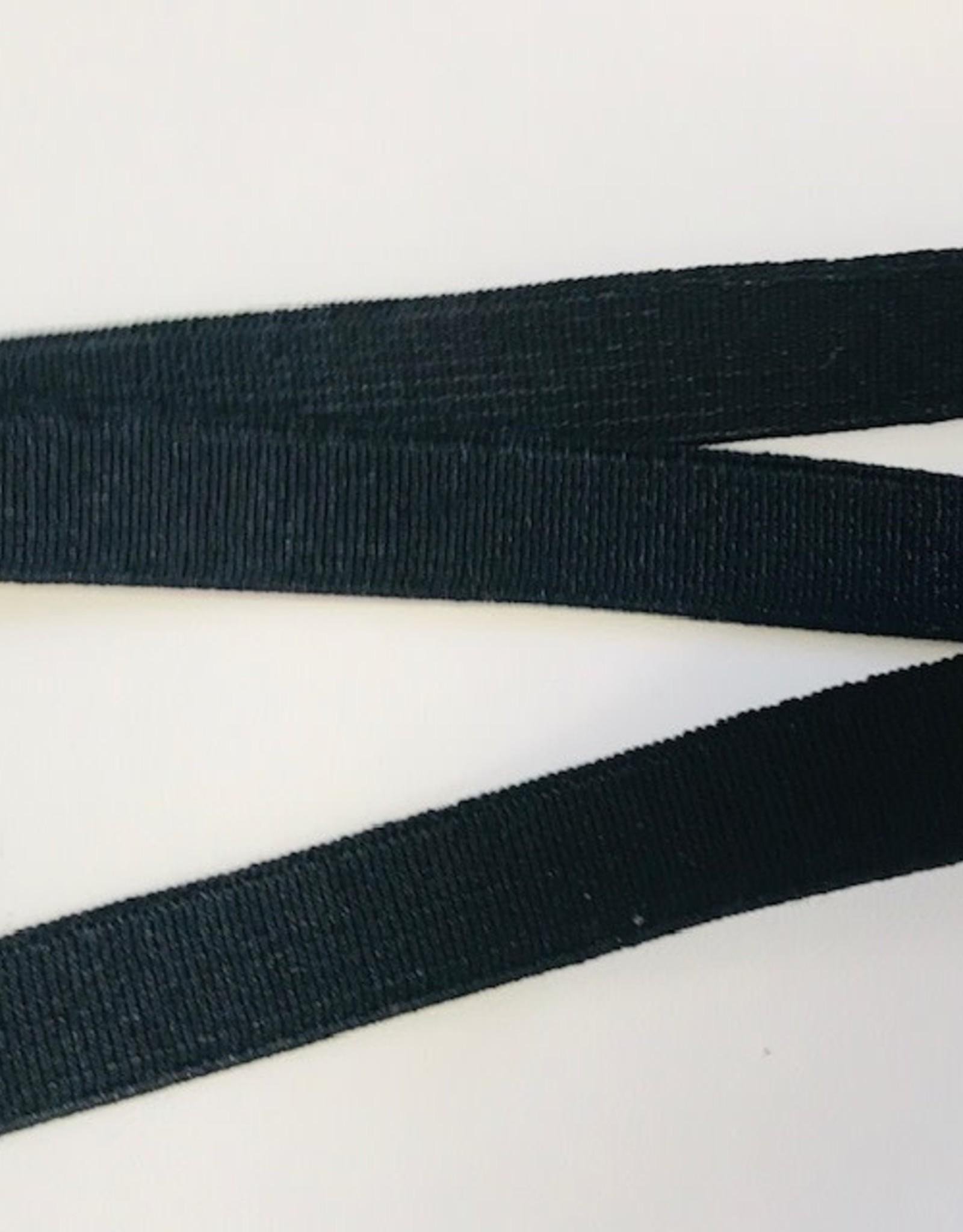 GEWEVEN ELASTIEK  zacht 15mm zwart