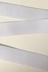 GEWEVEN ELASTIEK zacht 25mm wit