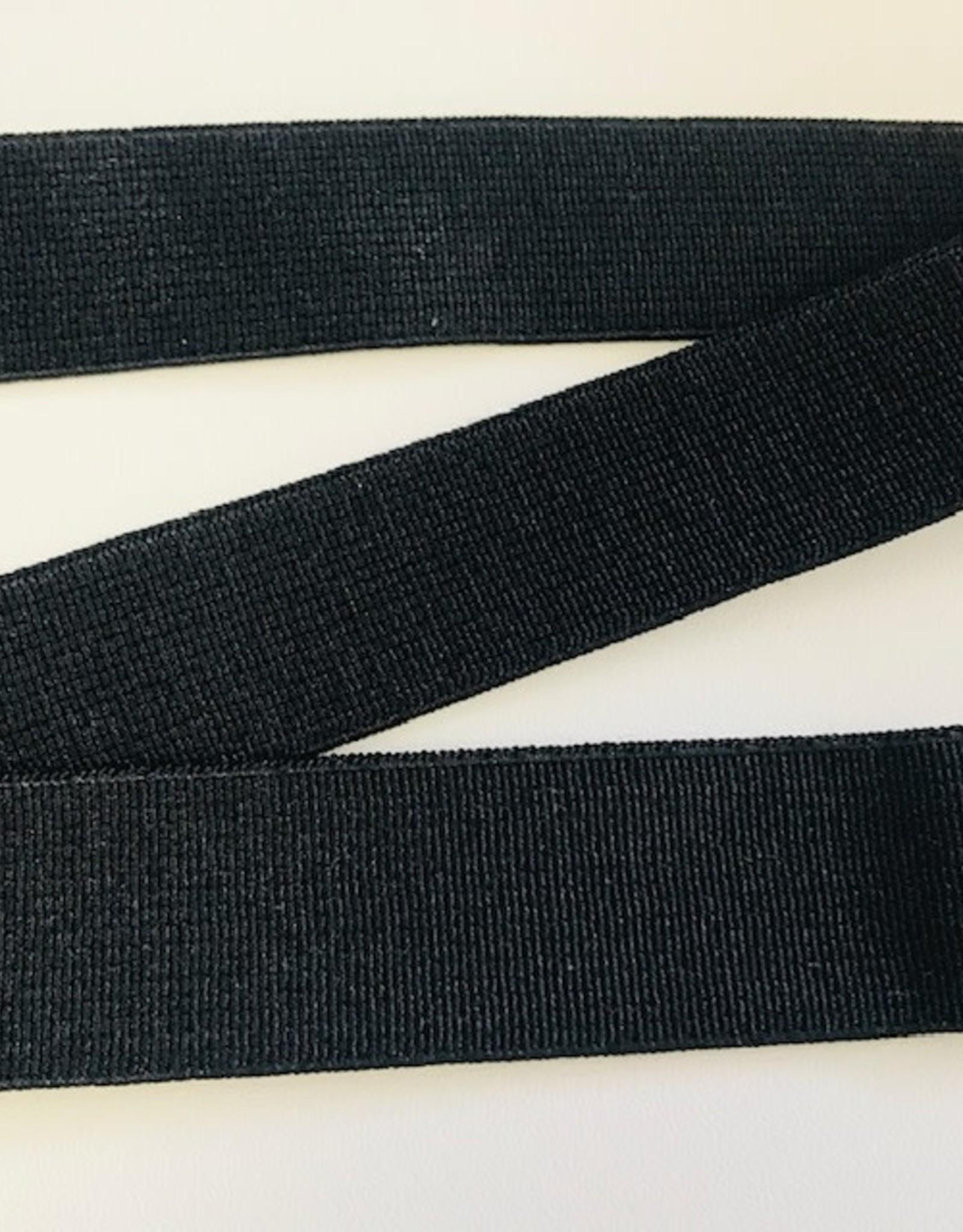 GEWEVEN ELASTIEK zacht 25mm zwart