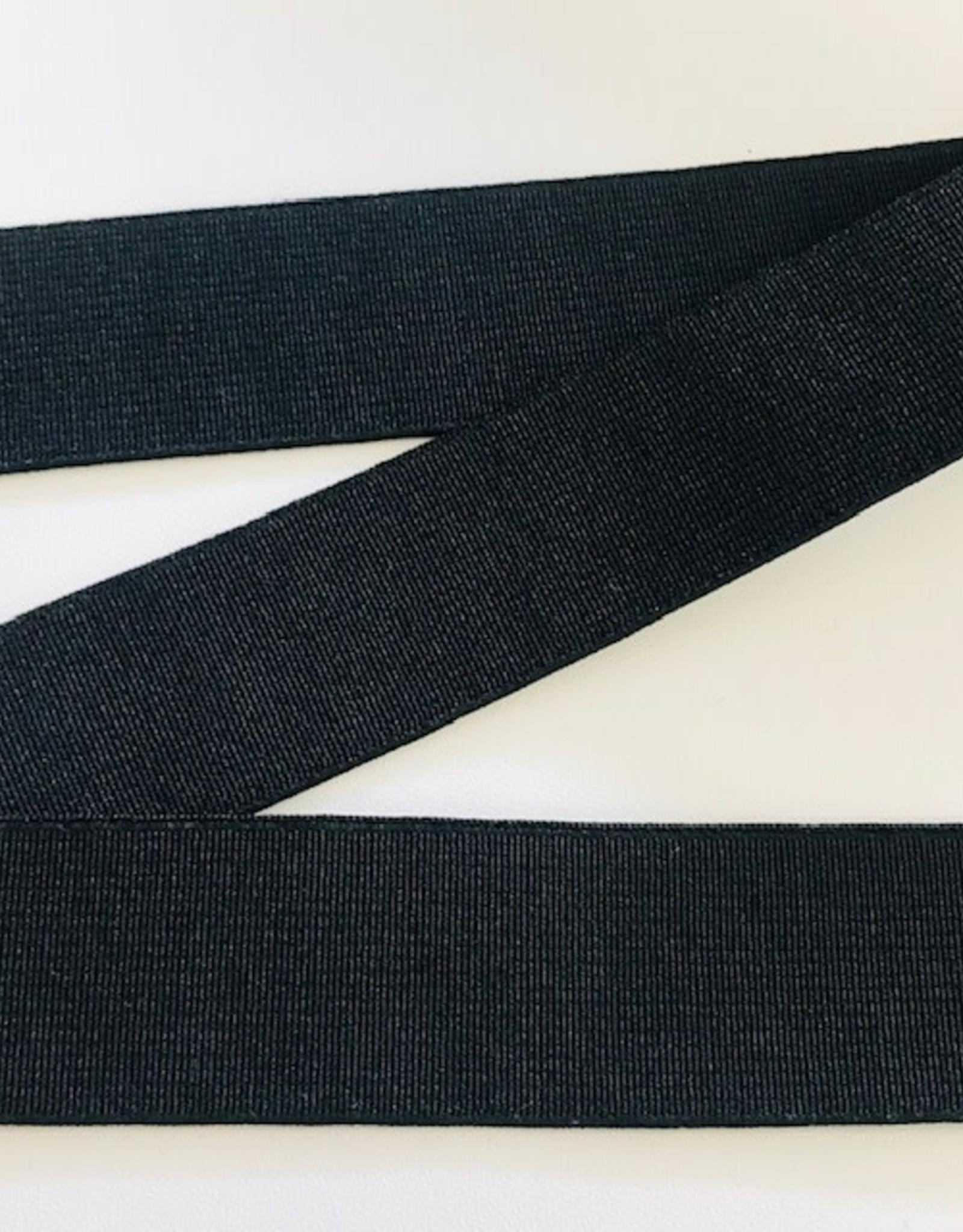 GEWEVEN ELASTIEK zacht 30mm zwart