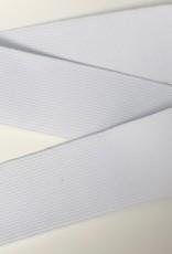 GEWEVEN ELASTIEK zacht 40mm wit
