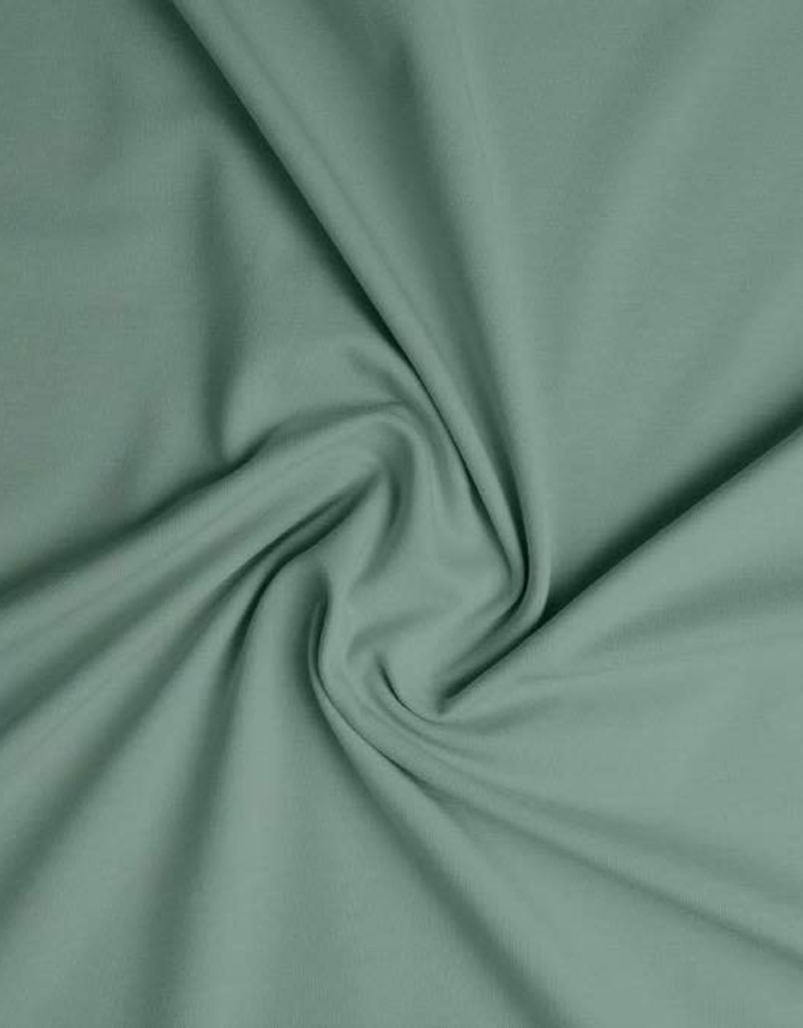 *Tricot Katoen uni dusty mint / oud groen