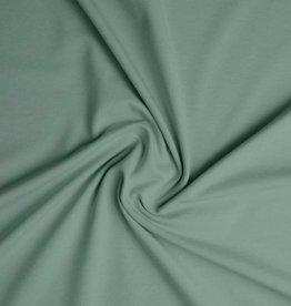Tricot Katoen uni dusty mint / oud groen
