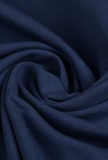 Tricot katoen uni donker blauw