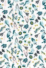Domotex Katoen faola viky flowers wit