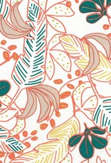 Domotex *Katoen Poyo Corail flowers wit