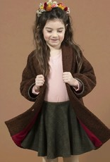 Knitted melange geruit khaki