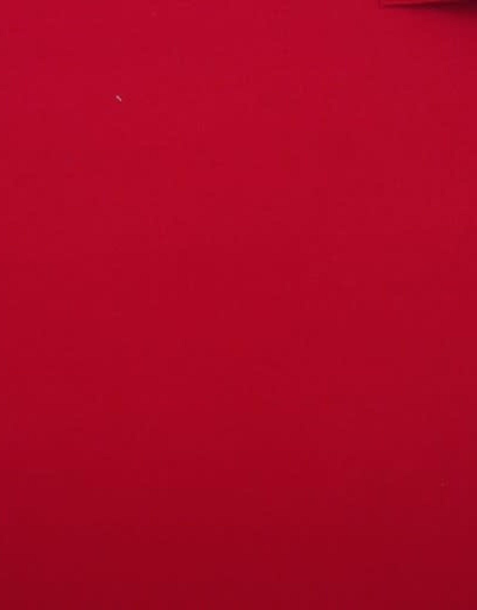 Mantel velour wol mix rood