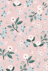 Katia Sweat cow flowers oud roze