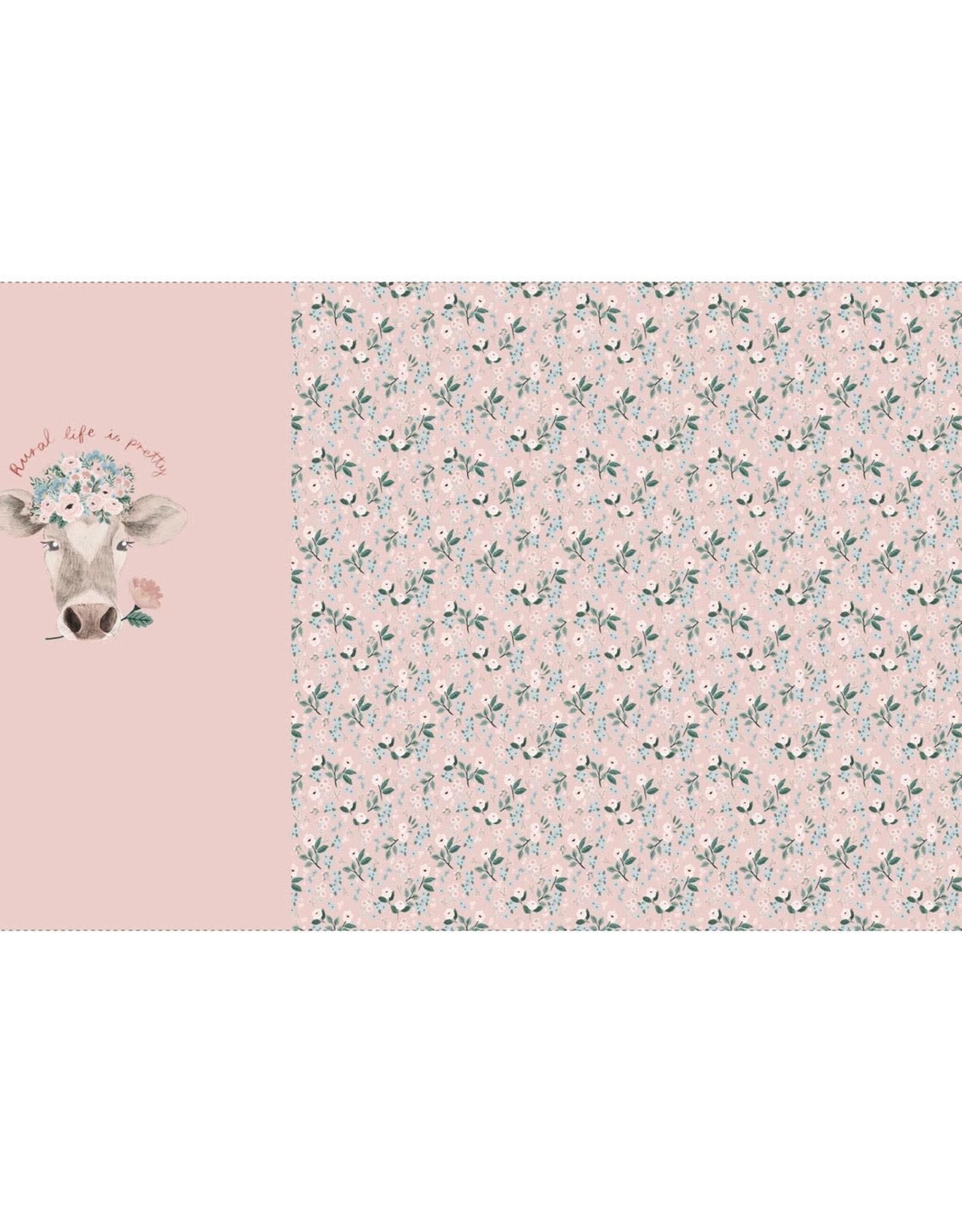 Katia Tricot katoen panel pretty cow oud roze