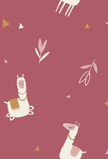 Katia Tricot katoen gold  lamas roze