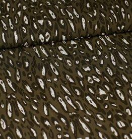Viscose leopard groen