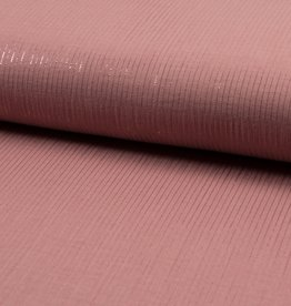 Qjutie *Bambino Double gauze stripes lurex oud roze