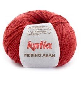 Katia Garen Merino Aran 21 robijn rood