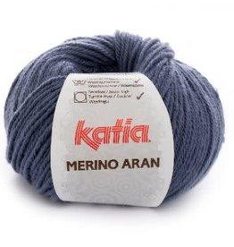 Katia Garen Merino Aran 58 jeans blauw