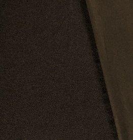 Mantel bouclé zacht donker groen