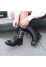 DWRS// DWRS// Biker Boots Black