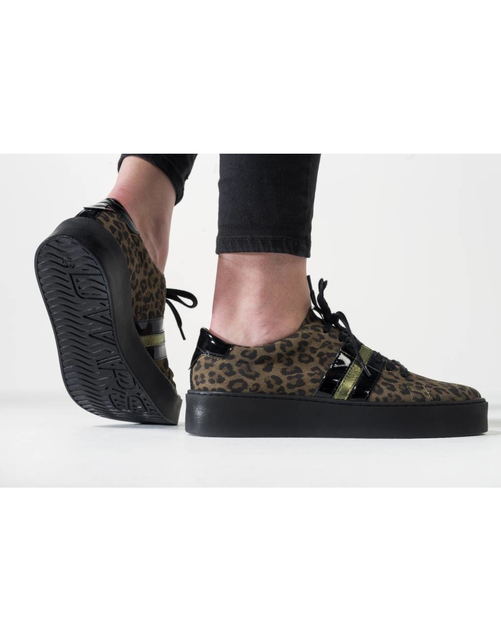 DWRS// DWRS// Suede Leopard Sneakers
