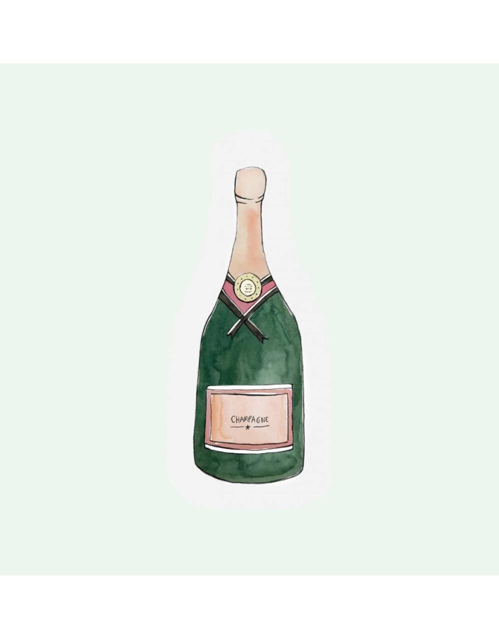 The Gift Label Cut Out Card - Champagne