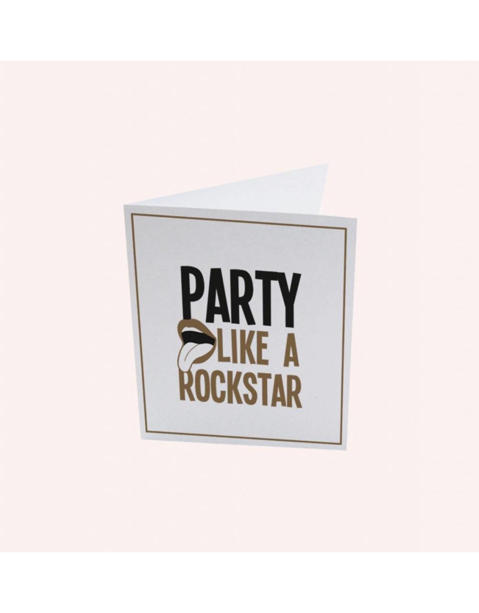 The Gift Label Postcard Rockstar