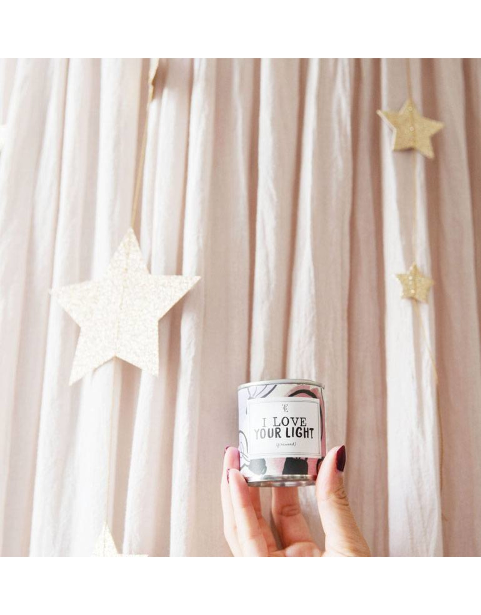 The Gift Label Small Candle Tin - I Love