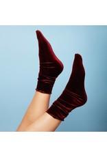 Pinned by k Velvet Socks Bordeaux