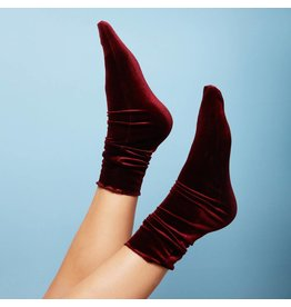 Pinned by k Velvet Socks Bordeaux