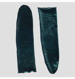 Pinned by k Velvet Socks Dark Green