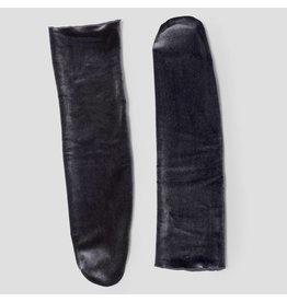 Pinned by k Velvet Socks Dark Grey