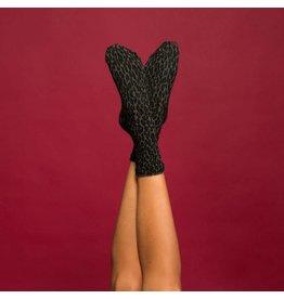 Pinned by k Leopard Socks Green