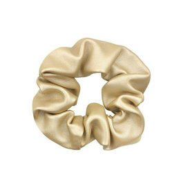 My Jewellery Gold Faux Leather Scrunchie
