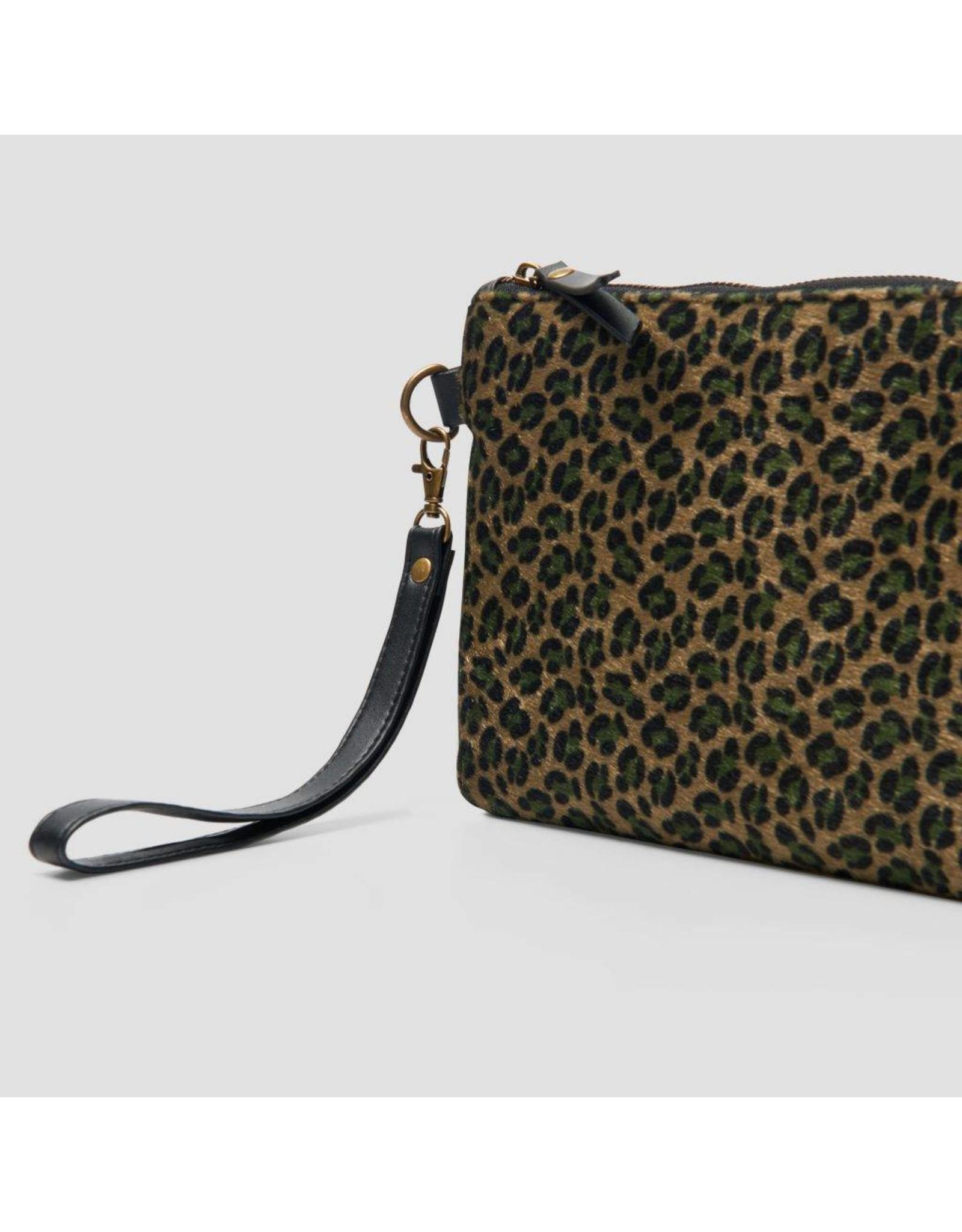 Pinned by k Clutch Leopard Green