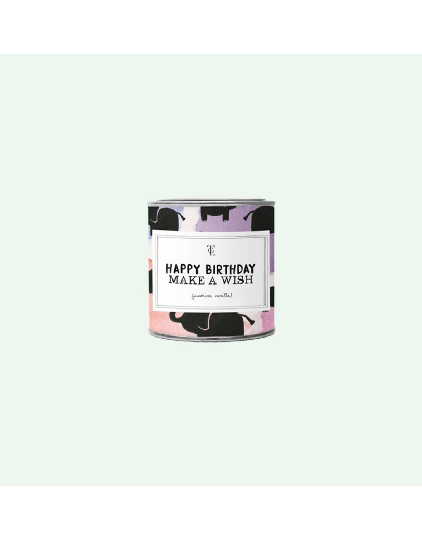 The Gift Label Happy Birthday - Big Tin Candle