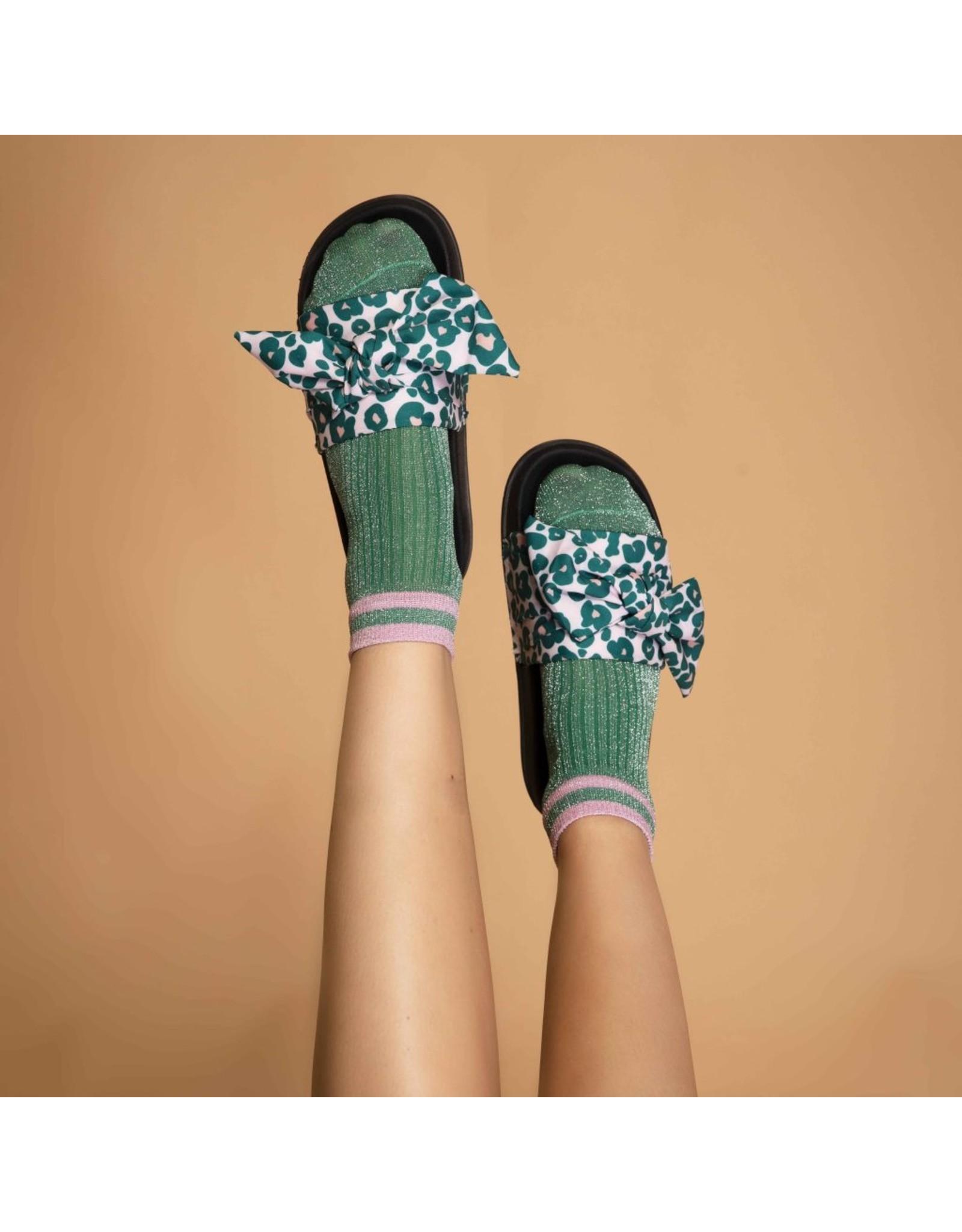 Pinned by k Flip Flop Rachel Leopard Green