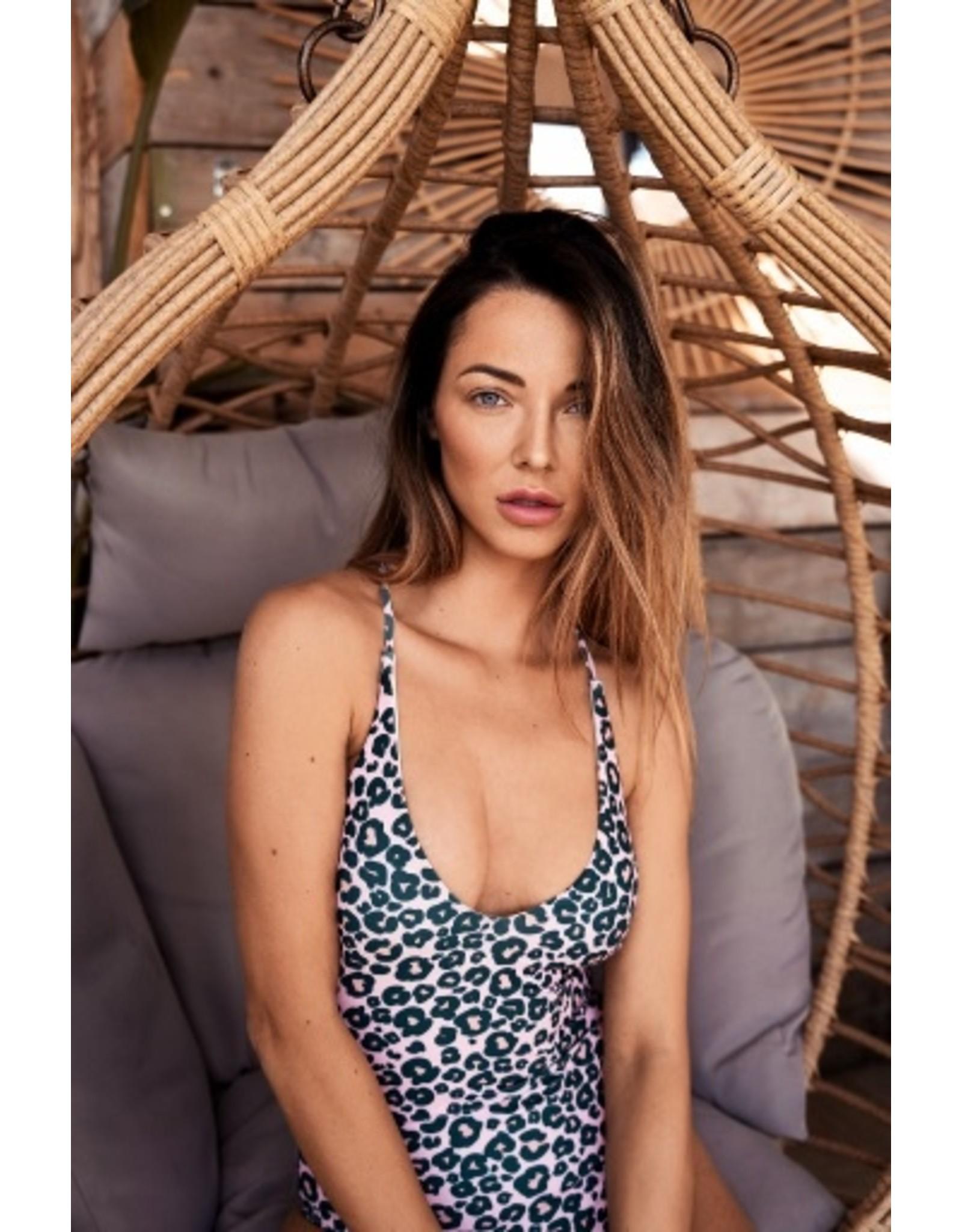 Pinned by k Swimsuit Leopard Green