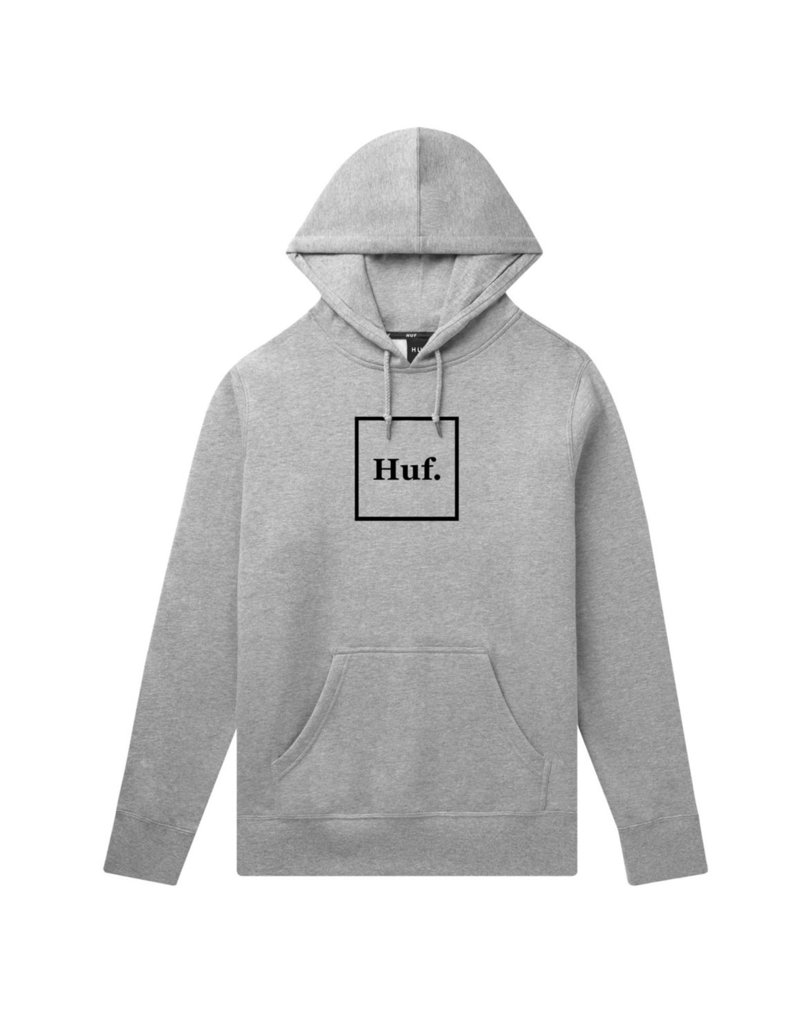 HUF Box Logo Pullover Hoodie HUF Grey Heather