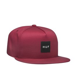 HUF Essentials Box Snapback Rose Wood Red Huf