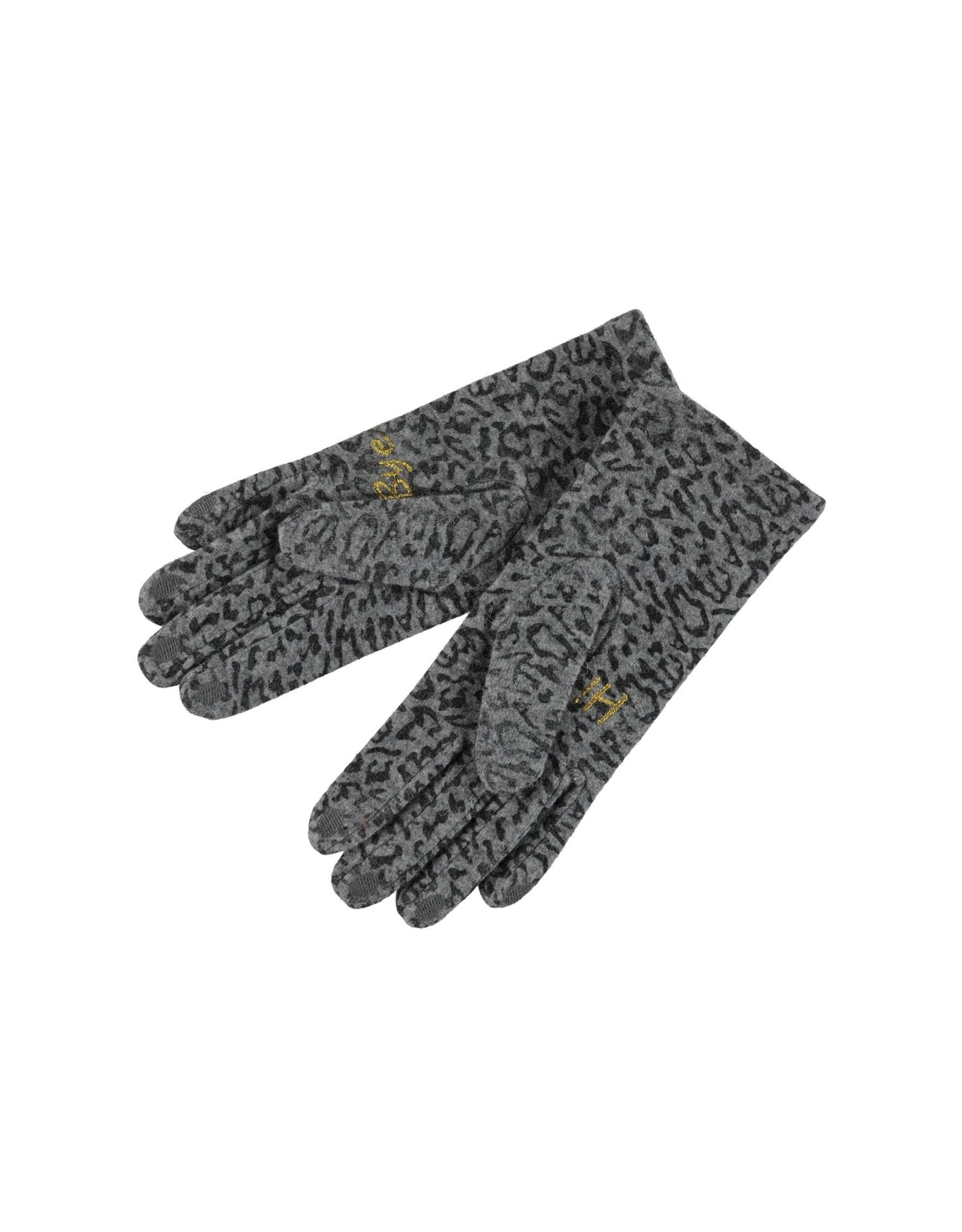 Birds on the run Glove Wool Allover Printed Animal 15121