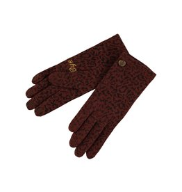 Birds on the run Glove Wool Allover Printed Animal 30124