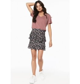 Rut & Circle Bea Short Skirt Pink Flower