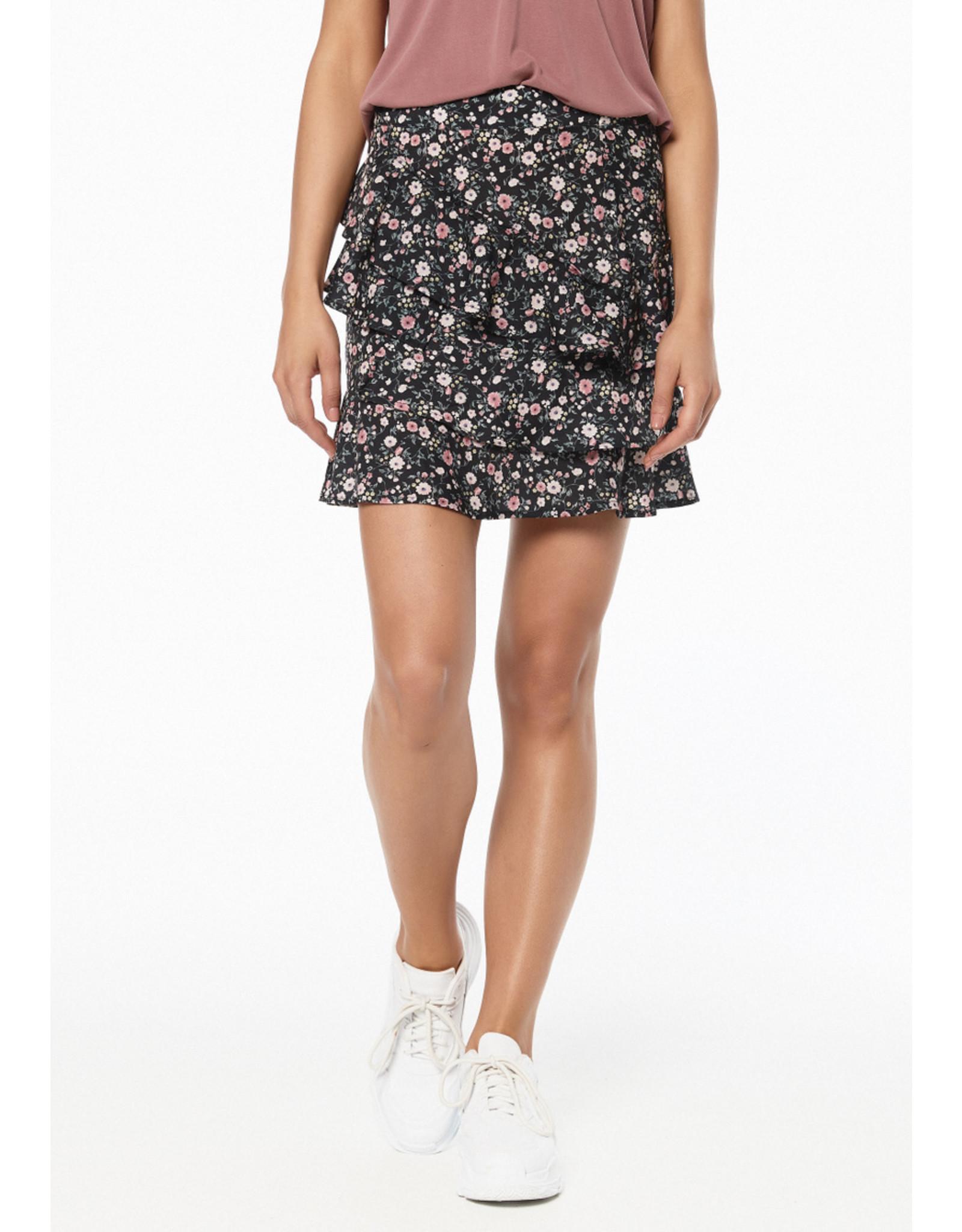 Rut & Circle Bea Short Skirt Pink Flower