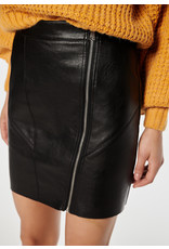 Rut & Circle Nellie PU Skirt Black