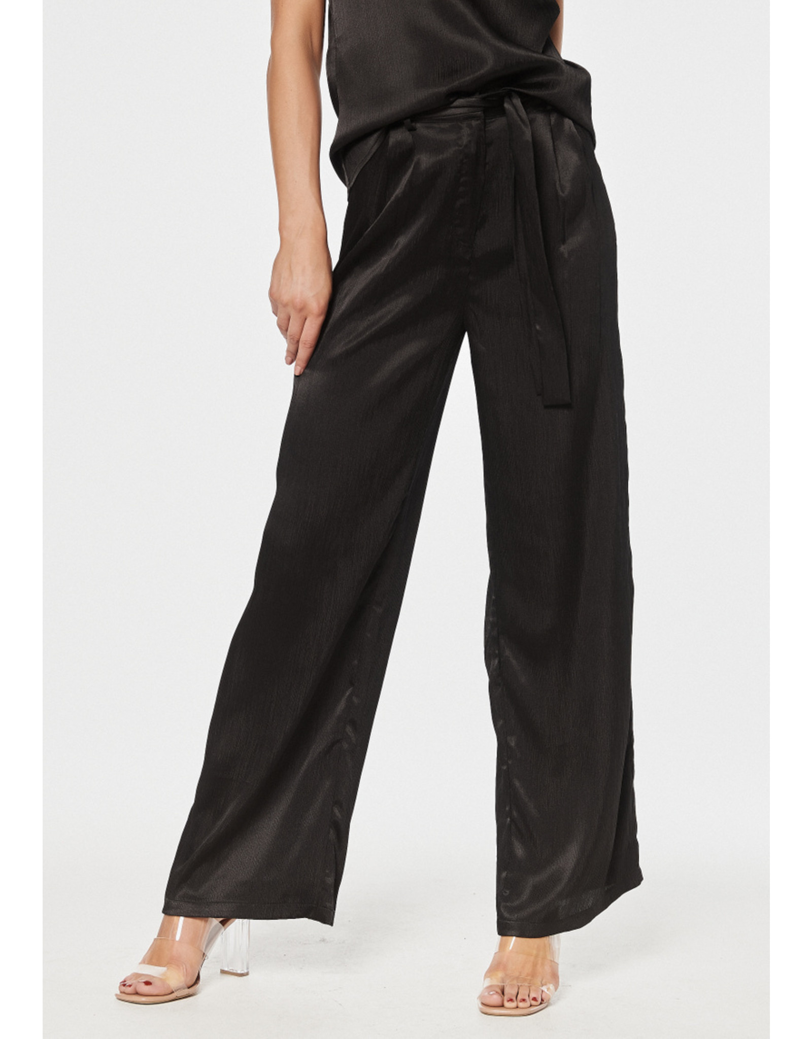 Rut & Circle Maci Wide Pant Black