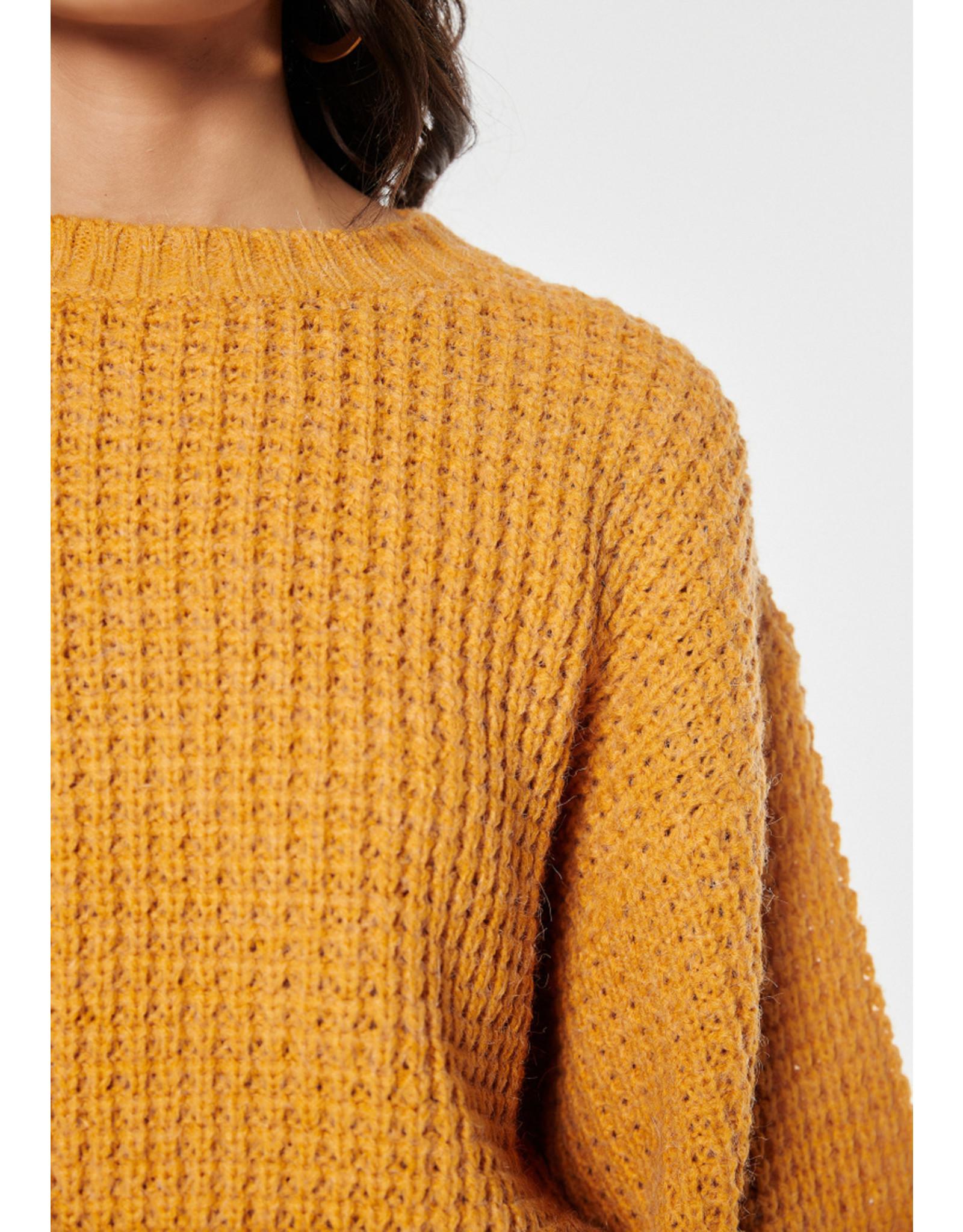 Rut & Circle Siri Balloon Knit Yellow Saffron