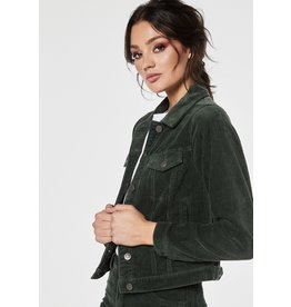 Rut & Circle Nova Cord Jacket Dark Green