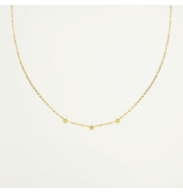 My Jewellery Ketting Drie Sterretjes Goud