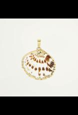 My Jewellery Bedel Platte Schelp Goudkleurig 068043