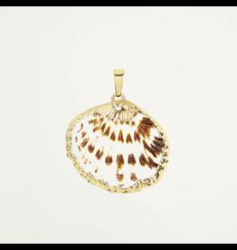 My Jewellery Bedel Platte Schelp Goudkleurig