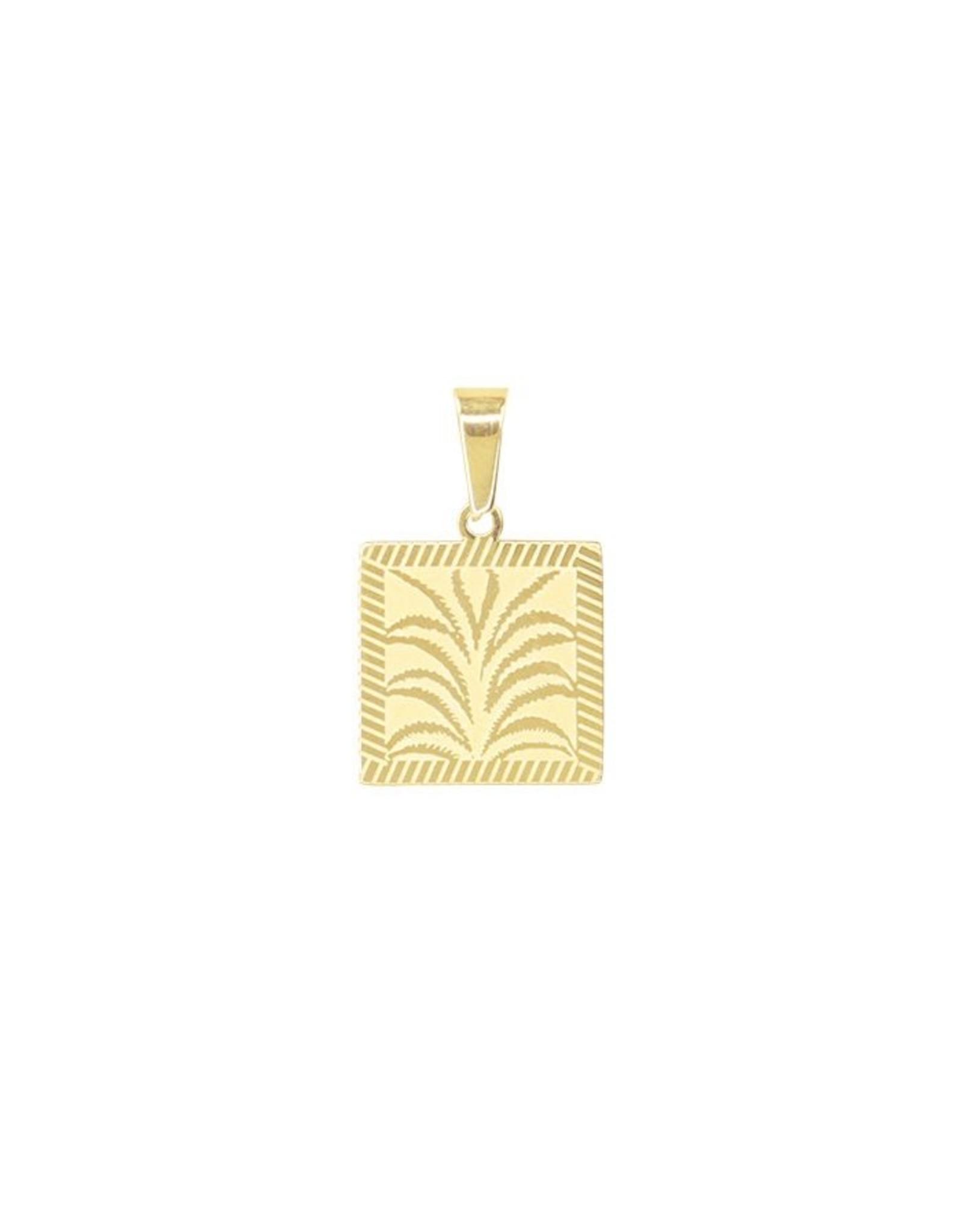 My Jewellery Bedeltje Palmprint Goud 000418