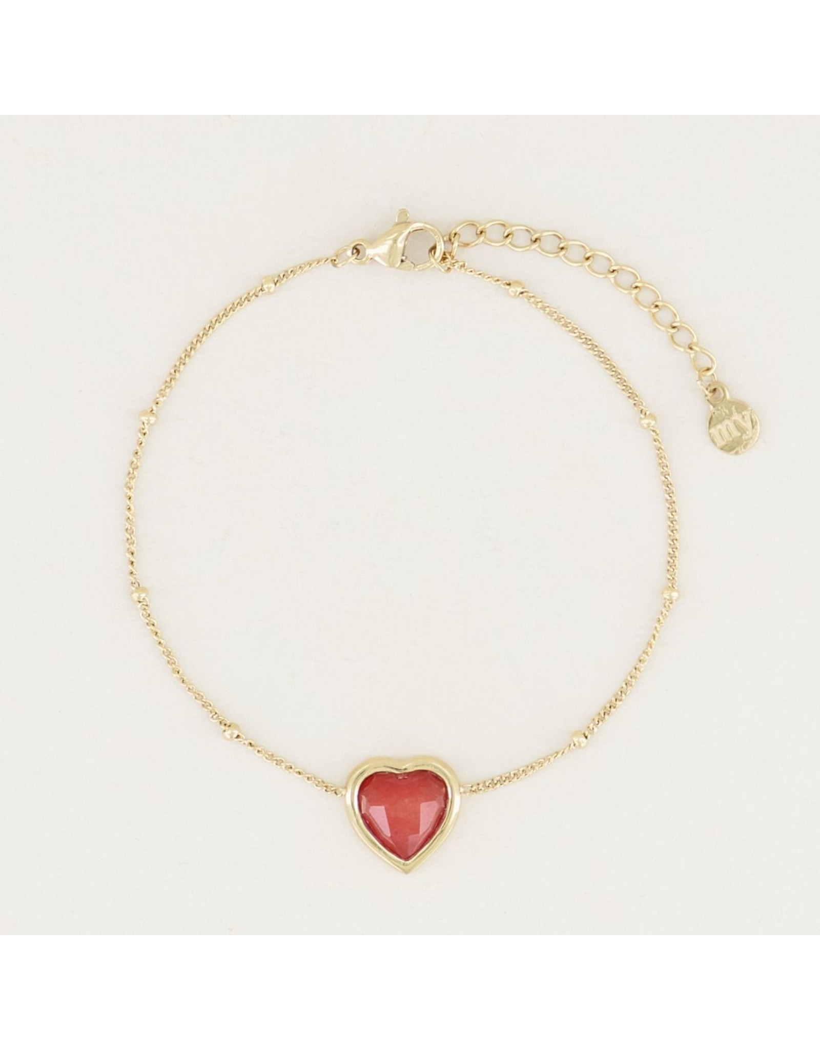 My Jewellery Armband Red Jade Hartje